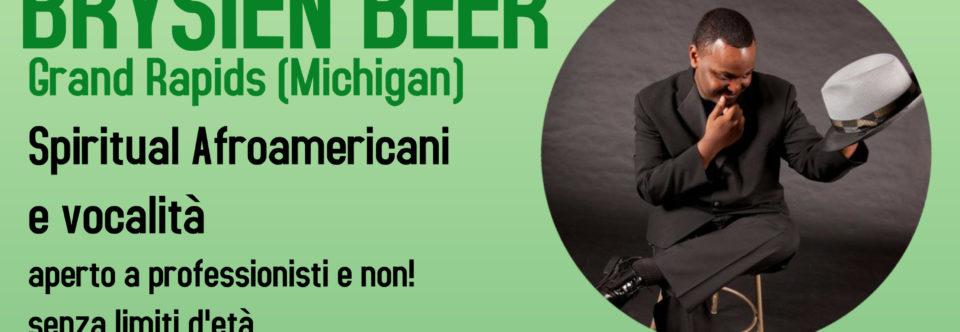 Masterclass di CANTO GOSPEL con Brysien Beer